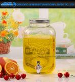 شراب خمر ثمرة زجاجيّة شراب موزّع مرطبان مع صنبور
