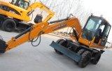 Excavador X80-L, 8ton, 0.3cbm de la rueda del motor de la grada III de Yanmar