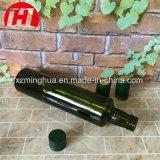 Runde Olivenöl-Glasflasche, dunkelgrüne Olivenöl-Flasche