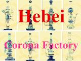 Corona Doble Árbol Árbol Ducha Percolater Alta Calidad Reciclador Tabaco Tall Color Bowl Vidrio Craft Cenicero Tubos De Vidrio Heady Beaker Bubbler Esmalte Humo Vidrio Tubo