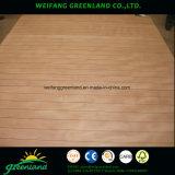 Contreplaqué rainuré de 15 mm, noyau de bois dur, visage et arrière-plan Okume