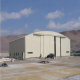 Estructura de acero prefabricados de la luz de almacén para los aviones la vivienda