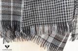 2017 la última estilos modelados del abrigo de la bufanda del doble de la red de la raya cara