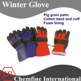 Кожа Зимние перчатки