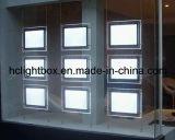 Visualizzazione di cristallo illuminata LED del bene immobile del blocco per grafici