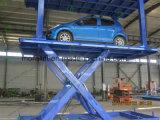 車は駐車のための上昇表を切る