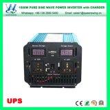 Inverseur pur approuvé de chargeur de sinus d'UPS 1500W de RoHS de la CE (QW-P1500UPS)