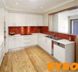 流行のカスタマイズされた高い光沢のある白いラッカー食器棚(BY-L-67)
