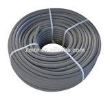 Un/boyau noir/bleu couverture enveloppée à deux fils de pression de rondelle