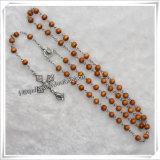 Sezione Religiosa 5 millimetri Semi-Precious Turquoise Beads Rosario (IO-cr051)