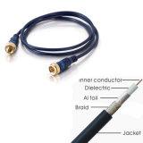 RG6 Quad Cable coaxial de blindaje/F-F Cable