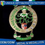 Medalha de ouro ou medalhão de metal de alta qualidade para honrar ou lembrancar