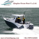 6,25 m Centro de aluminio Barco con camarote con techo rígido Pequeño Barco Pesca