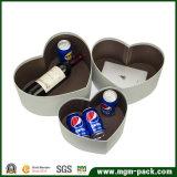 Коробка подарка оптового изготовленный на заказ сердца форменный бумажная
