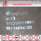 Плита листа Mn13 X120mn12 Hadfield марганца стальная