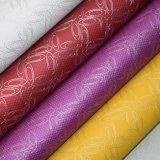 Linha de couro PU artificial de pele artificial decorativo texturizado