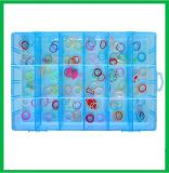 6 Rasterfeld-Fach-Schlitz-Plastikablagekasten-Schmucksache-Hilfsmittel-Behälter