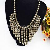 El verano de bisutería, material acrílico amarillo chapado en aleación de zinc con oro colgante de perlas collar de cadena ajustable