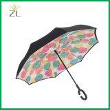 عالة يطبع عكسيّة يعكس مطر مظلة خارج نقطة إيجابيّة - إلى أسفل يطوي مظلة