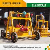 Petite machine de fabrication de brique mobile manuelle de bloc de Qt40-3b