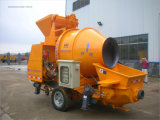 Pompe concrète diesel de remorque mobile mobile avec le mélangeur