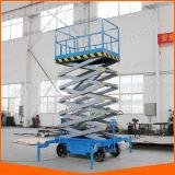 4-18m de elevación eléctrica elevador de tijera hidráulico
