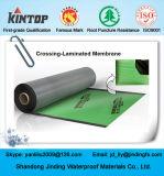 Cross-laminado HDPE auto-adesivo de betume membrana impermeável