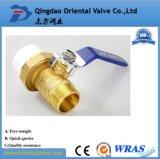 Media del petróleo y pulgada de cobre amarillo de la vávula de bola de la presión de la presión inferior el 1/2