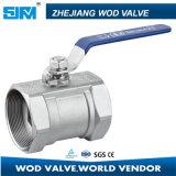 Una pieza de válvula de bola válvula de bola 1000wog Ss con Ce del Agua Petróleo y Gas