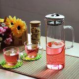 brocca di vetro stabilita della bevanda dell'acqua di 1200ml Pyrex di POT della brocca di vetro trasparente di vetro