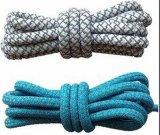 Cuerda de poliéster trenzado redondo cordones con puntas de plástico