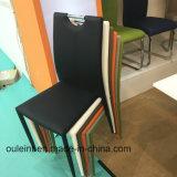겹쳐 쌓이는 Comercial 다채로운 직물 및 PU 식사 의자 (OL17116)
