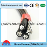Linha secundária aérea cabo da distribuição do ABC do cabo de China do ABC da isolação de XLPE/PE e cabo aéreos do fio