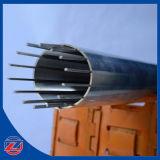 Filtro de tela de superfície redondo e liso perfeito do fio da cunha para o equipamento da refinaria de petróleo
