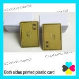 Les deux côtés imprimés carte VIP en plastique