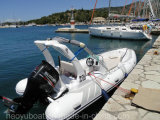 19feet 5.8mの膨脹可能な肋骨のボート、漁船の救助艇、販売のためのスポーツのモーターボート
