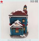 Het Model van het Huis van Kerstmis van de hars met Decoratie van het LEIDENE de Lichte Huis van de Vakantie