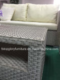 Venda a quente sofá em vime Vime Alumínio Definir Mobiliário de exterior