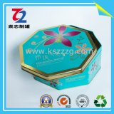 Восьмиугольная коробка Tinplate для еды, Mooncake