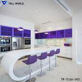 Mobiliário Residencial moderna sala de jantar de vidro de mobiliário de escritório mesa de café