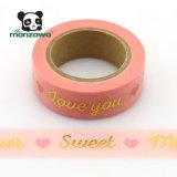 熱い販売のバレンタインのピンクのカードの作成のための甘い金ホイルのWashiテープ
