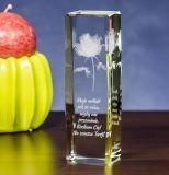 K9 Kubus de van uitstekende kwaliteit van het Kristal met de Gravure van het Embleem