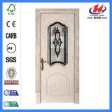 Составная нутряная деревянная дверь Veneer Bubinga (JHK-008-1)