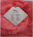 La tela bordada Chiffon 100% del poliester, se puede utilizar para el desgaste de mujeres de la manera y la ropa de los niños