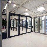 絶縁されたガラスが付いているカスタマイズされたデザインアルミニウム開き窓のドア