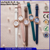 Wristwatch повелительниц кварца кожаный планки способа ODM (Wy-121E)
