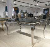 優雅なホーム家具の黒の大理石のダイニングテーブル