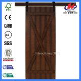 Porte de grange en bois de la meilleure brame de qualité de centre commercial (JHK-SK08)
