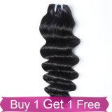 加工されていないインドのRemyの毛の自然な未加工インドのバージンの人間の毛髪