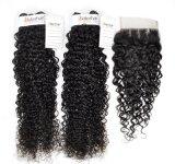 モンゴルの小売商(等級9A)のための巻き毛の加工されていないバージンの毛